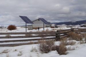 Wisdom Montana USFS Ranger Station Solar Electric System - Photovoltaic Trackers