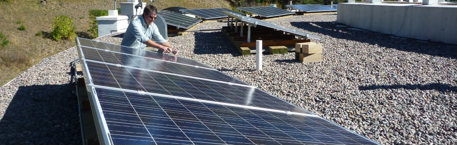 Flat Roof, Ballasted, Residential Solar PV with Solar thermal, Rock Creek, MT