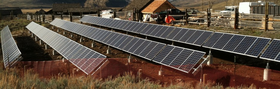 Solar Electric Photovoltaic system in the Lamar Valley of Yellowstone National Park