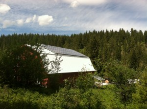 9 kW array, just outside Missoula, Montana