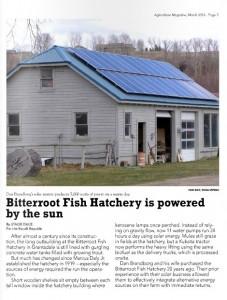 Solar Electric System Hamilton Montana Bitterroot Fish Hatchery