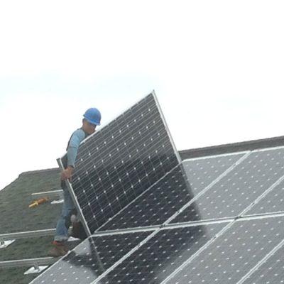 Installing SolarWorld solar Panels