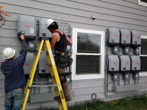 Solar electric and renewable energy power systems for low income housing.